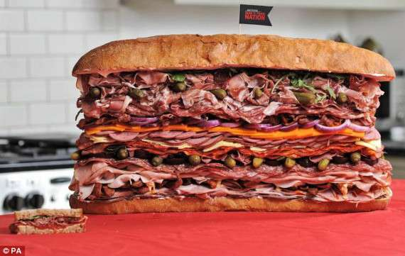 worlds meatiest sandwich