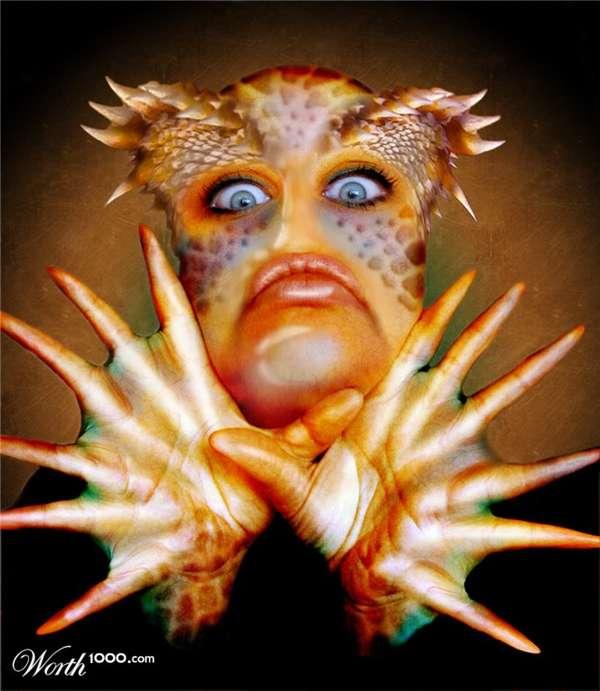 Freaky Photoshopped Aliens