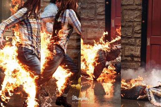 Wrangler Stunt Campaign