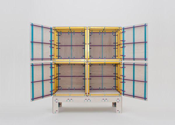 Tartan-Banded Cupboards