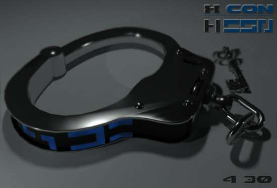 X Con Handcuff Shaped Watch
