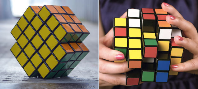 X-Shaped Rubik's Cubes