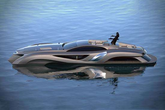 Streamlined Sci-Fi Speedboats