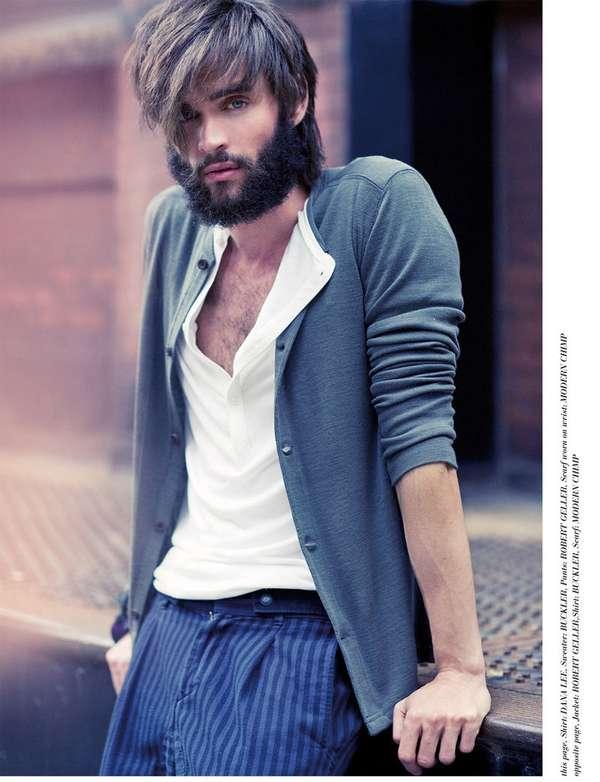 Bearded Pretty Boy Shoots Xoan Deluxx Magazine