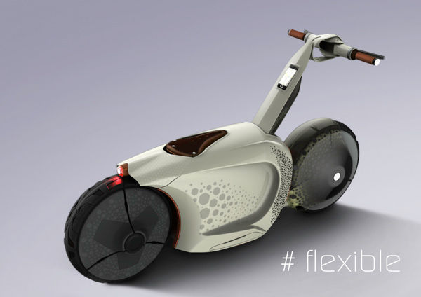 Retractable Snail-Like Scooters