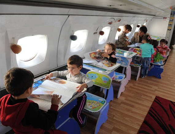 Upcycled Aircraft Classrooms