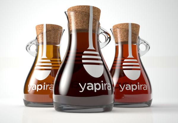Beautiful Flask Branding Yapira Honey Packaging