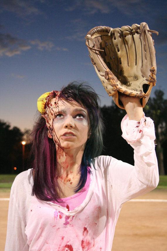 Bloody Softball Prosthetics