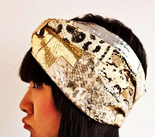 Textured Serpentine Turbans