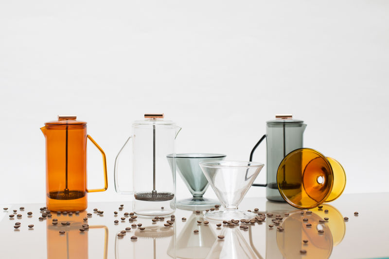 Tinted Glass Coffee Accessories