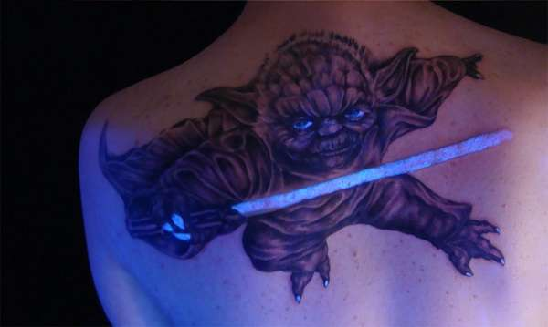 Blacklight Sci-Fi Body Art