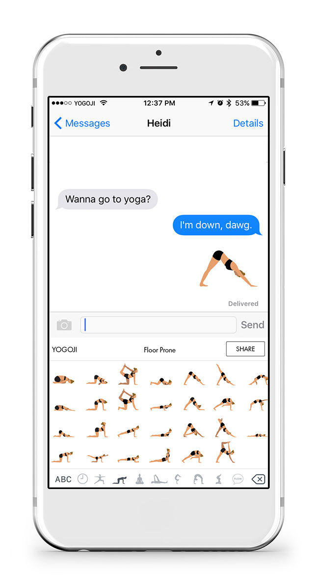 Comedic Yoga Emojis