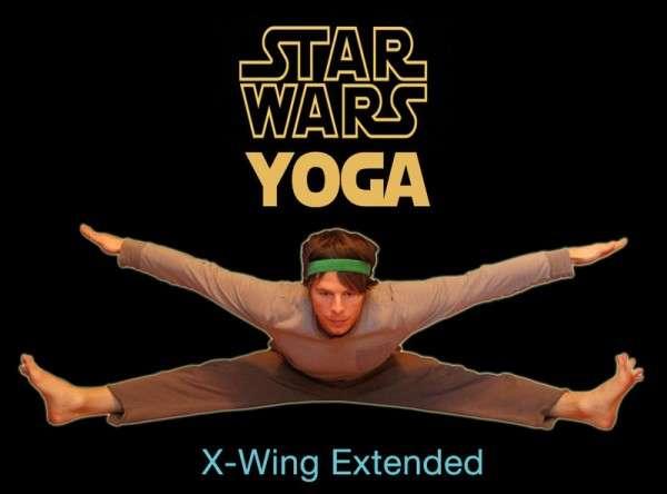 Comedic Sci-Fi Yoga Stances