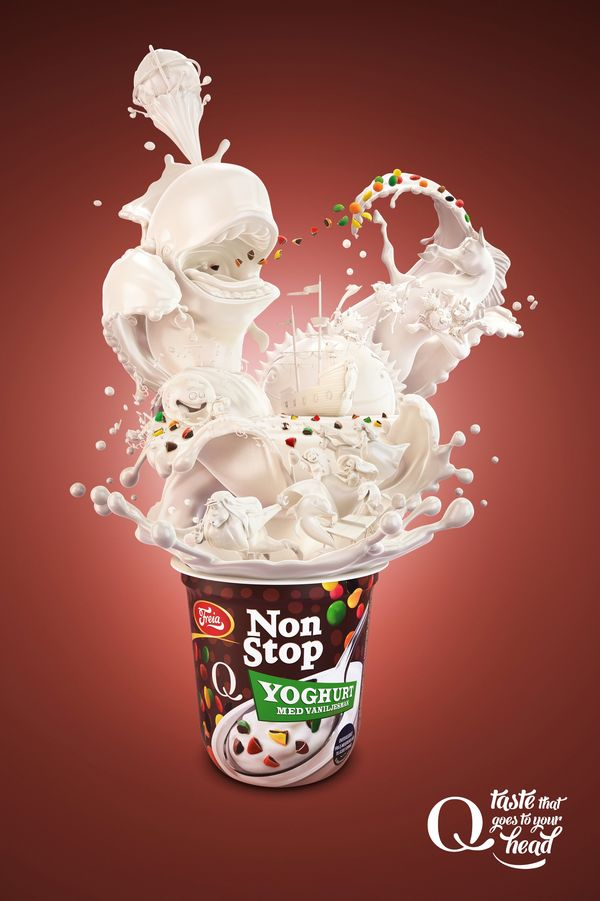 Exploding Yogurt Ads