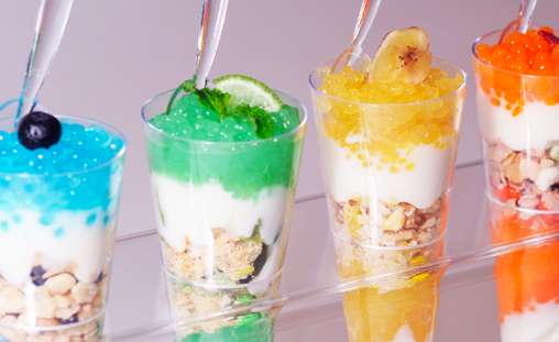 Caviar Yogurt Parfaits