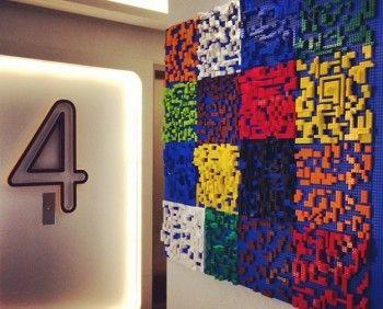 Intricate LEGO Hotel Murals