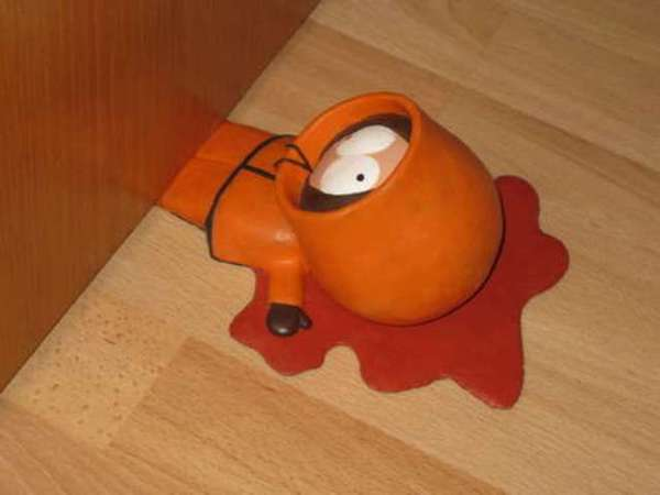 Deceased Cartoon Door Stops