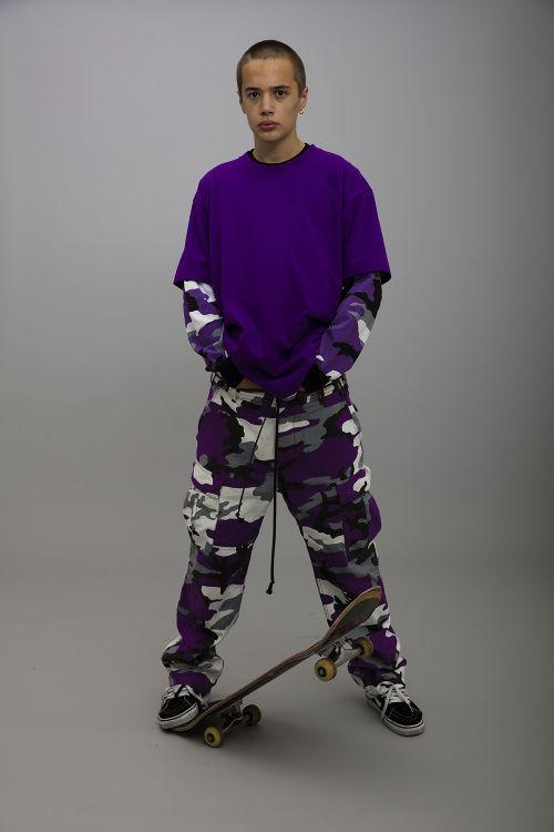 Violet Camouflage Apparel