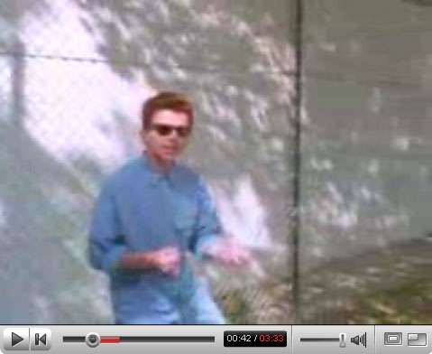 YouTube Rick Rolling its Own Users