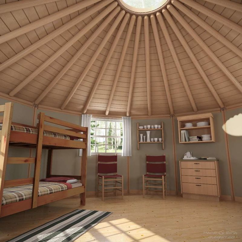 Hybrid Yurt-Cabins