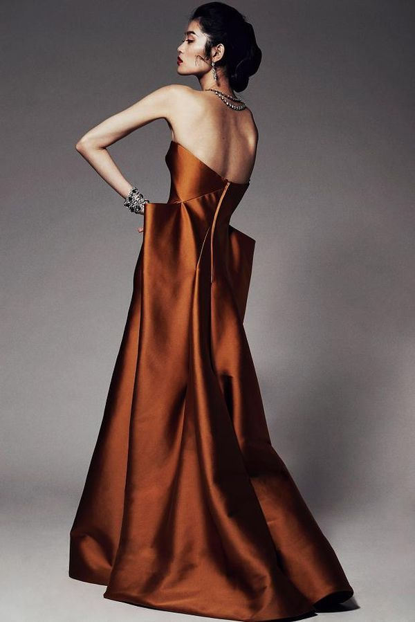 Glamorous Sculptural Gowns