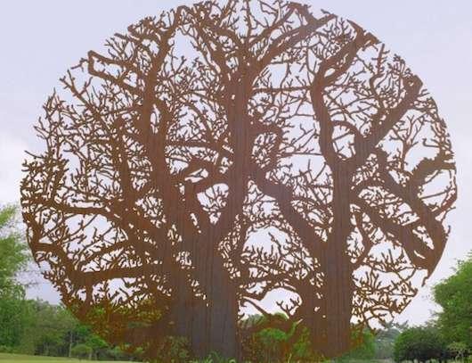 Nature-Bound Steel Sculptures