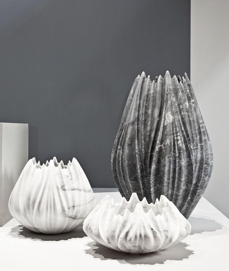 Modern Marble Vases Zaha Hadid Citco