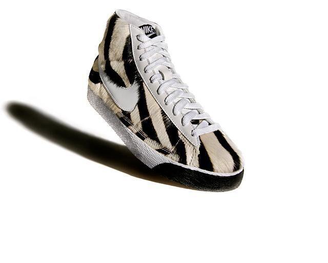 Fuzzy Zebra Sneakers