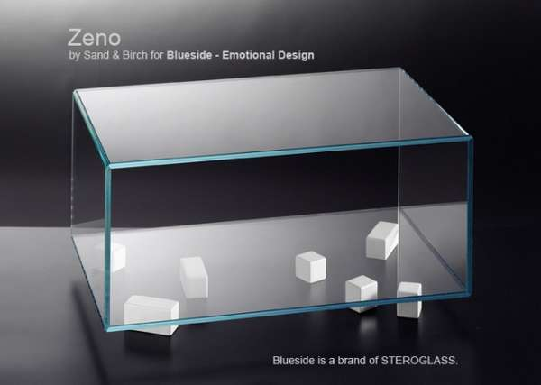 Cubic Glass Tables
