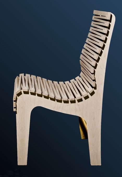 Cutout Serrated Seating
