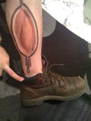 Zipped-Up Tattoos