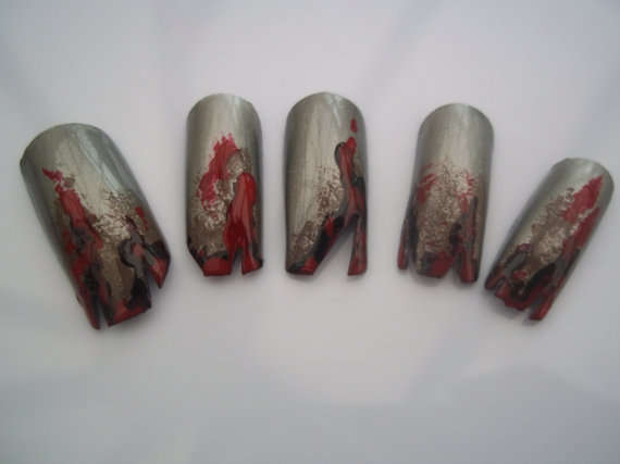 Zombie Nail designs