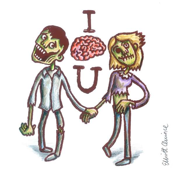 Zomby Valentine's Day Cards