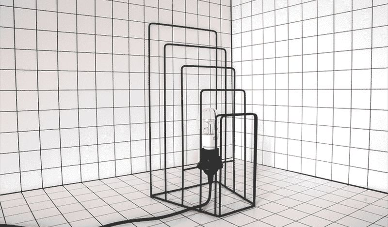 Minimalist Wireframe Lamps
