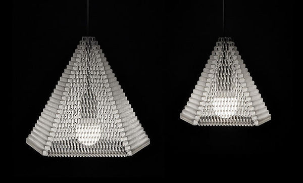 Flat-Packed 3D-Printed Lampshades