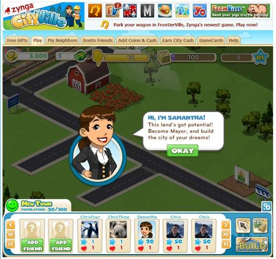 Social City-Planning Games : Zynga Cityville