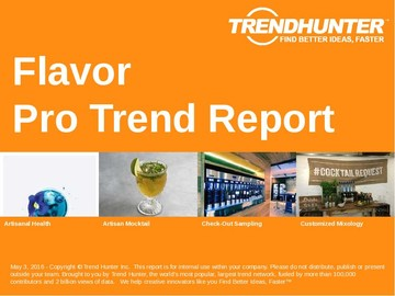 Flavor Trend Report and Flavor Market Research