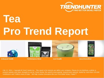 Tea Trend Report and Tea Market Research