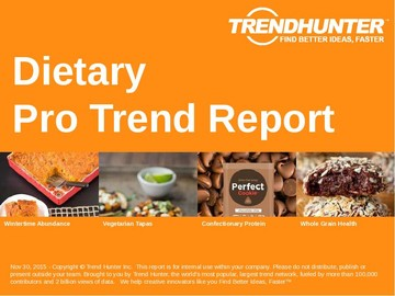 Dietary Trend Report and Dietary Market Research