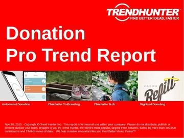 Donation Trend Report and Donation Market Research