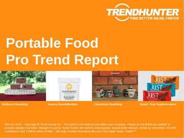 Portable Food Trend Report and Portable Food Market Research