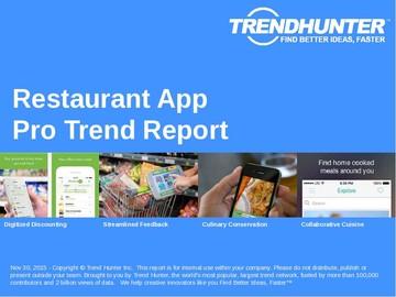 Restaurant App Trend Report and Restaurant App Market Research