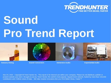 Sound Trend Report and Sound Market Research