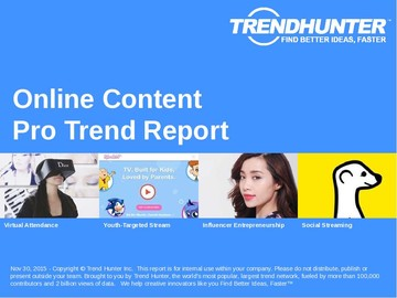 Online Content Trend Report and Online Content Market Research