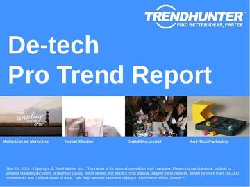 De-tech Trend Report and De-tech Market Research