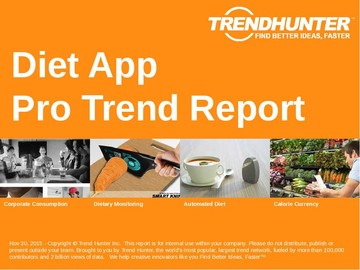 Diet App Trend Report and Diet App Market Research