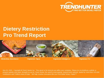 Dietery Restriction Trend Report and Dietery Restriction Market Research