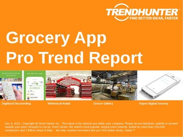 Grocery App Trend Report and Grocery App Market Research