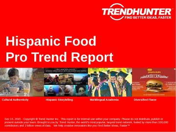 Hispanic Food Trend Report and Hispanic Food Market Research