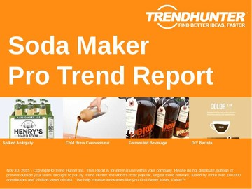 Soda Maker Trend Report and Soda Maker Market Research